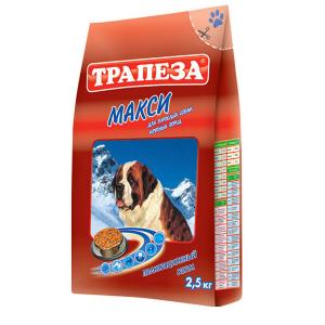 """Корм Трапеза """"Макси"""" мясное ассорти для взрослых собак крупных пород 10кг"""