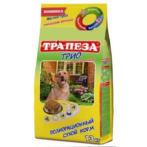 Корм сухой Трапеза для взрослых собак всех пород с мясом 13кг