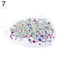 Стразы разноразмерные в пакетике №7 бело-фиолетовый хамелеон, 360 шт