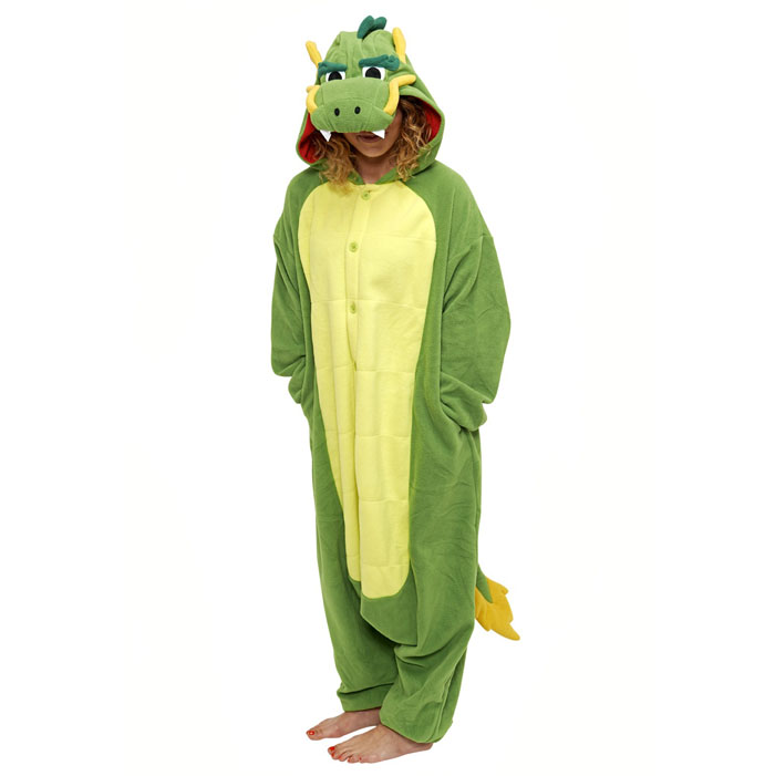 Пижама Кигуруми Дракон Зеленый_01