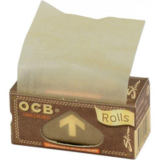Сигаретная бумага OCB Rolls Unbleached Virgin Slim