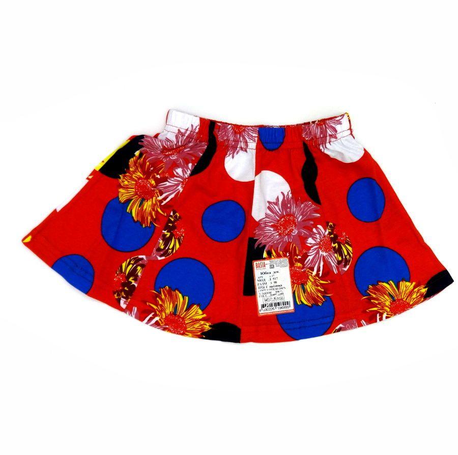 Красная юбка для девочки 3-х лет