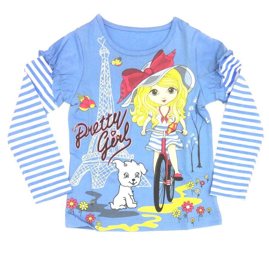 Голубая блуза для девочки Париж