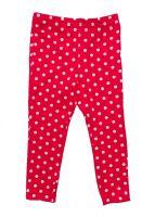 красные леггинсы в горошек для девочки 3-4 лет