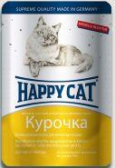 Happy Cat Курочка, кусочки в яичном соусе (пауч 100 г)