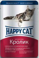 Happy Cat Кролик, кусочки в соусе (пауч 100 г)