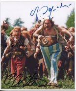 Автографы: Жерар Депардье, Кристиан Клавье. Астерикс и Обеликс против Цезаря