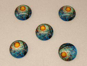 Кабошон, стекло, диаметр 25 мм (1уп = 10шт), Арт. КС0077