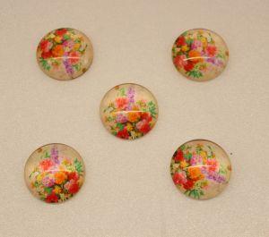 Кабошон, стекло, диаметр 25 мм (1уп = 10шт), Арт. КС0098