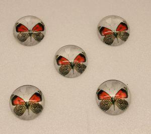 Кабошон, стекло, диаметр 25 мм (1уп = 10шт), Арт. КС0104