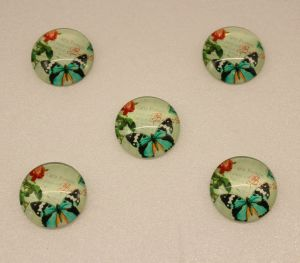 Кабошон, стекло, диаметр 25 мм (1уп = 10шт), Арт. КС0106
