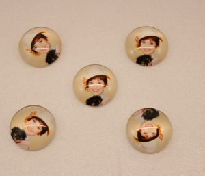 Кабошон, стекло, диаметр 25 мм (1уп = 10шт), Арт. КС0157