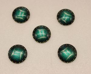 Кабошон, стекло, диаметр 25 мм (1уп = 10шт), Арт. КС0170