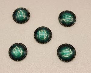 Кабошон, стекло, диаметр 25 мм (1уп = 10шт), Арт. КС0171
