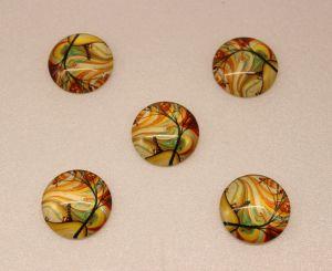 `Кабошон, стекло, диаметр 25 мм, Арт. Р-КС0073