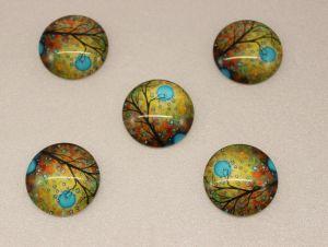 `Кабошон, стекло, диаметр 25 мм, Арт. Р-КС0075
