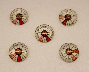 `Кабошон, стекло, диаметр 25 мм, Арт. Р-КС0127