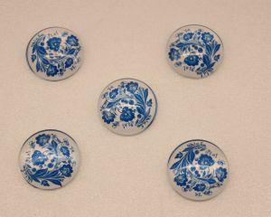 `Кабошон, стекло, диаметр 25 мм, Арт. Р-КС0144