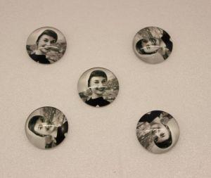 `Кабошон, стекло, диаметр 25 мм, Арт. Р-КС0147