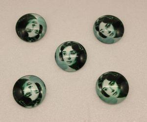 `Кабошон, стекло, диаметр 25 мм, Арт. Р-КС0155