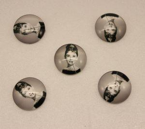 `Кабошон, стекло, диаметр 25 мм, Арт. Р-КС0156