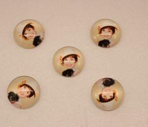 `Кабошон, стекло, диаметр 25 мм, Арт. Р-КС0157