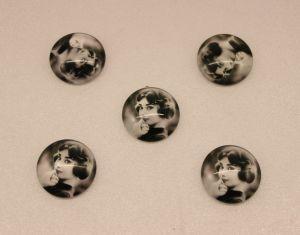 `Кабошон, стекло, диаметр 25 мм, Арт. Р-КС0159