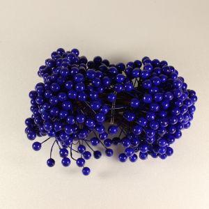 `Ягоды 8 мм (длина 16 см), цвет темно-синий, 1 веточка=2 ягодки