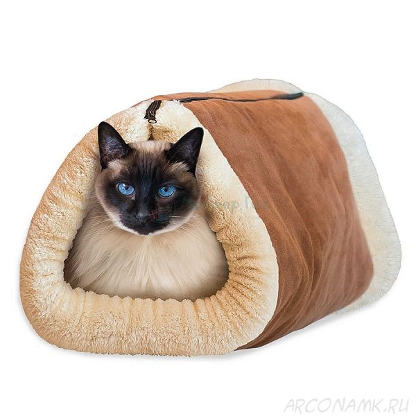 Лежанка-домик для кошки 2в1 Kitty Shack