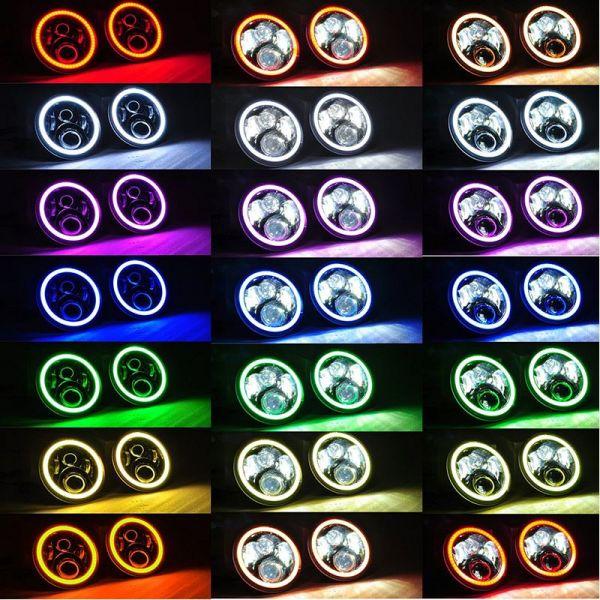 Светодиодные фары головного света 7 дюймов 120Вт RGB