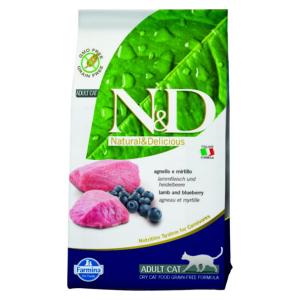 Корм сухой Farmina N&D для взрослых собак мелких пород с ягненком и черникой 0.8кг