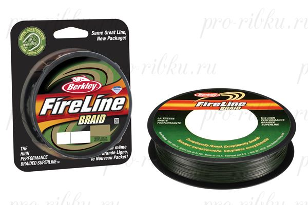 Плетеный шнур Berkley Fireline Braid 110m 0,23mm 25.7kg