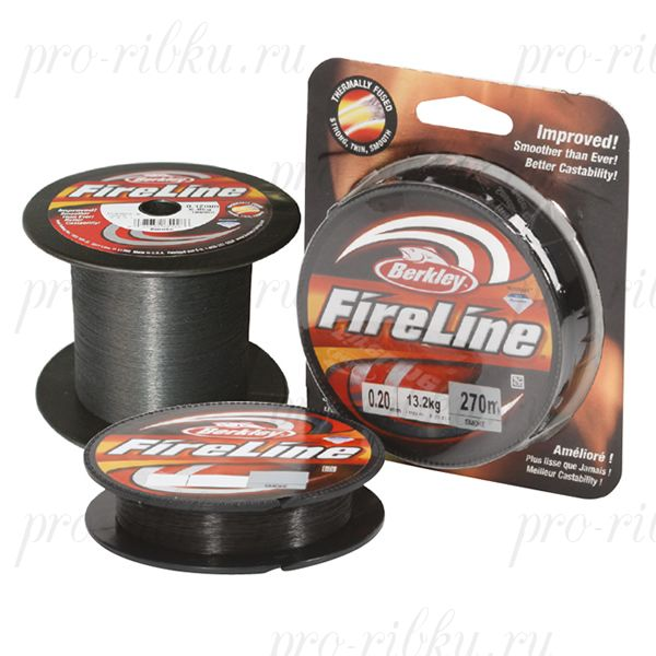 Плетеный шнур Berkley Fireline Smoke 110m 0,15mm 7.9kg