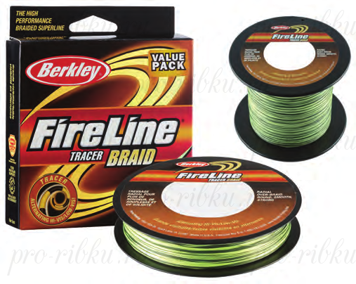 Плетеный шнур Berkley Fireline Tracer Braid 270m 0,40mm 58.1kg