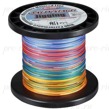 Плетеный шнур Berkley Metered Braid 5Color 600m 0,25mm 30lbs