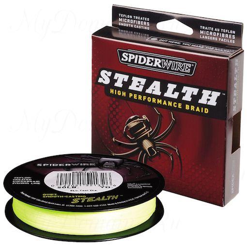 Плетеный шнур Spiderwire Stealth Yellow 274m 0,30mm 22.9kg
