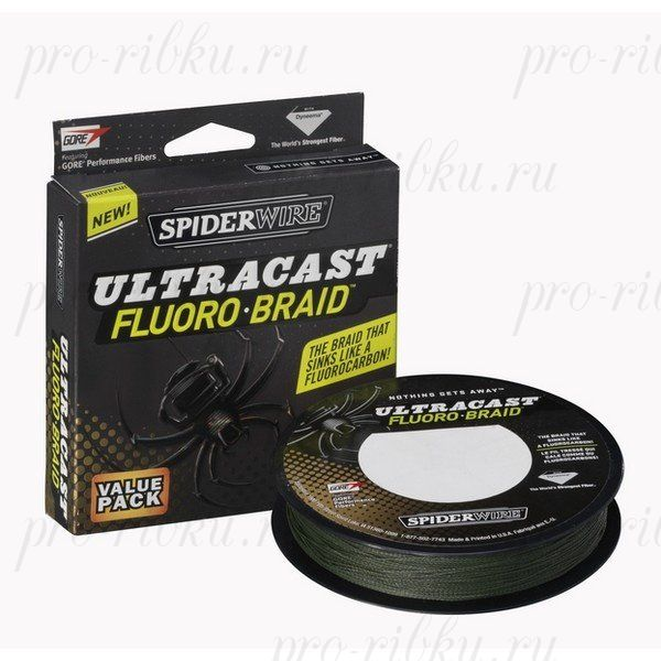 Плетеный шнур Spiderwire Ultracast Fluorobraid Green 270m 0,10mm 6,119kg