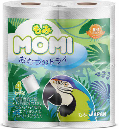MOMI Туалетная бумага многослойная, 23 м., 4 рулона
