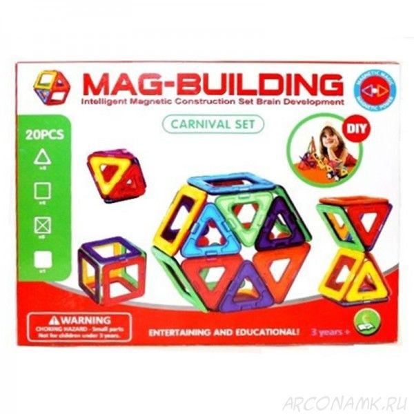 Детский магнитный конструктор Mag Building (20 деталей)