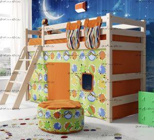 Кровать-чердак Соня-6 с наклонной лестницей массив