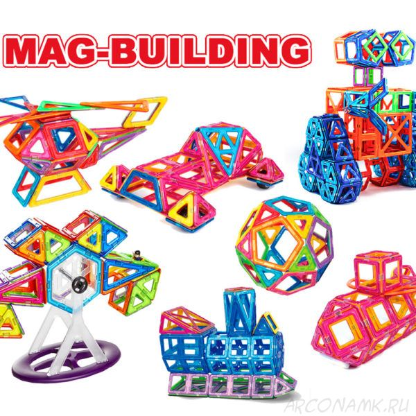 Детский магнитный конструктор Mag Building (28 деталей)