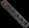 НОВИНКА. Сетевой фильтр RFS 18 1,8 м, черный, 5 розеток