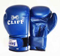 Перчатки боксерские CLIFF, липучка,  AMERICAN STAR DX, 6 унц., синие