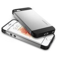 Чехол Spigen Slim Armor для iPhone 5/5s/SE Серебристый