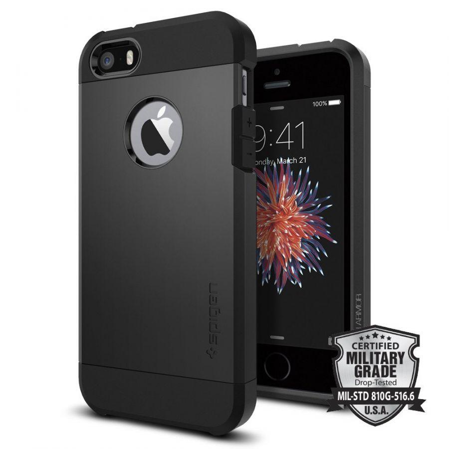 Чехол Spigen Tough Armor для iPhone 5/5s/SE черный
