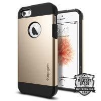 Чехол Spigen Tough Armor для iPhone 5/5s/SE золотой
