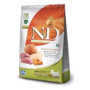 Корм сухой Farmina N&D для взрослых собак мелких пород с мясом кабана яблоком и тыквой 2.5кг