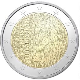 100 лет независимости Финляндии 2 евро Финляндия 2017