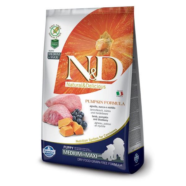 Корм сухой Farmina N&D для щенков мелких пород с ягненком черникой и тыквой 0.8кг