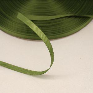 Лента репсовая однотонная 06 мм, длина 25 ярдов, цвет: хаки